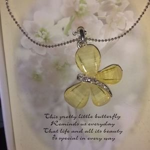 Hallmark exclusive Silver Butterfly necklace